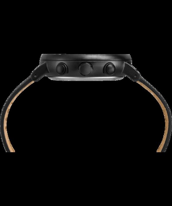 Reloj cronógrafo Fairfield de 41mm con correa de cuero Black large