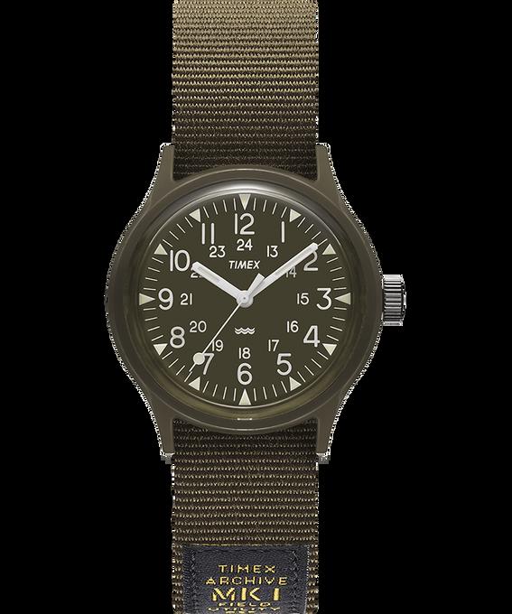 Reloj militar MK1 de 36mm con correa de otomán Negro/verde large
