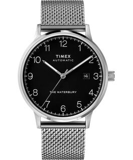 Waterbury Classic Automatic 40mm Stainless Steel Mesh Band Watch Stainless-Steel/Black large
