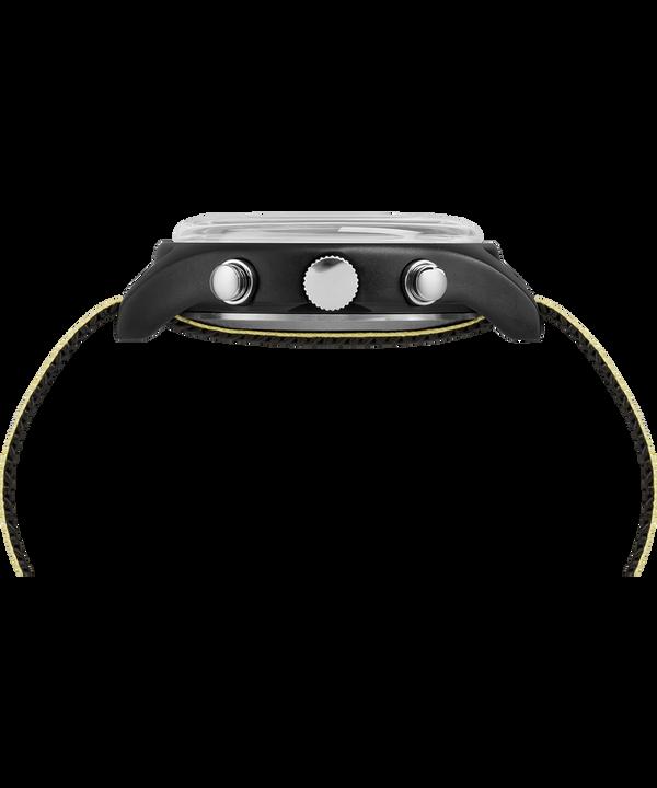 Reloj cronógrafo MK1 de aluminio de 40mm con correa de tela reflectante Black large