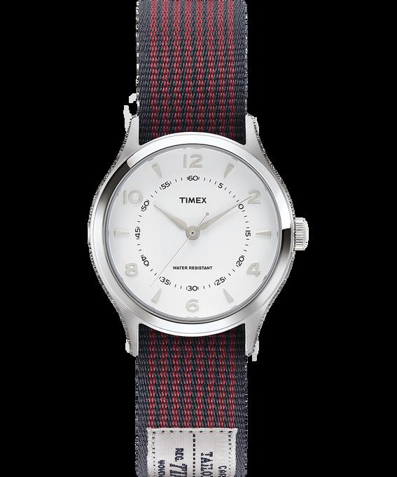 Reloj Whitney Village de 36mm con correa reversible de otomán Acero inoxidable/Blanco large