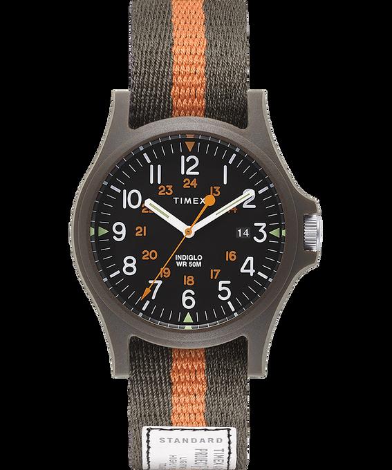 Reloj Acadia de 40mm con correa de tela Verde/Negro large