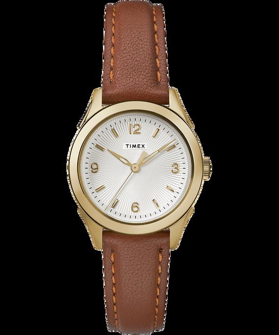 Reloj Torrington para mujer con tres manecillas de 27mm con correa de cuero Dorado/Marrón/Plateado large