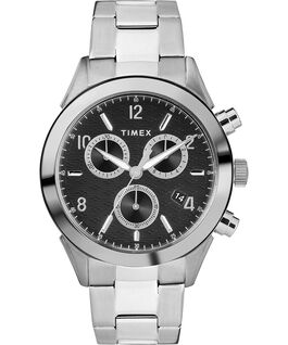 Reloj cronógrafo Torrington para hombre de 40mm con correa metálica Acero inoxidable/Negro large