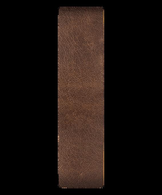 Correa de cuero marrón/bronce deslizante  large