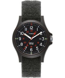 Reloj Acadia de 40mm con correa de tela con cierre de velcro Negro large