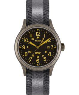 Reloj Allied de 40mm con correa de tela reflectante reversible Dorado/negro large