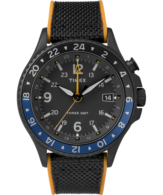 Allied Three GMT 43mm Silicone Strap Watch