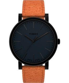 Reloj Originals de 42mm con correa de piel Negro/Marrón large