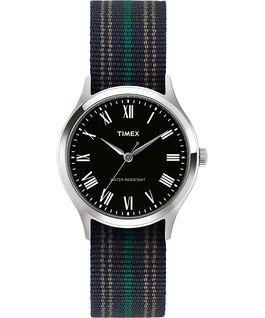 Reloj Whitney Avenue de 38mm con correa de tela Acero inoxidable/Negro large