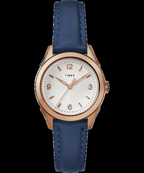 Reloj Torrington para mujer con tres manecillas de 27mm con correa de cuero Tono oro rosa/Azul/Plateado large