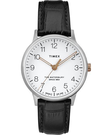 29e803824a79 Reloj Classic Waterbury de 36 nbsp mm con correa de cuero Stainless-Steel  Black