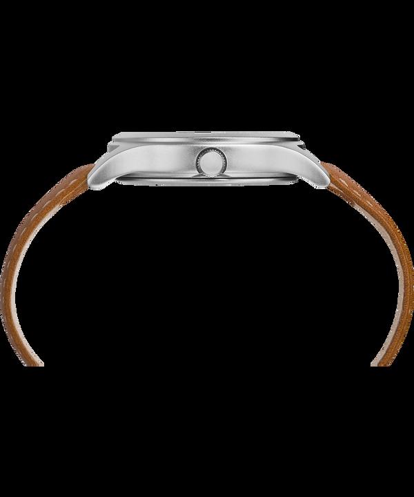 Reloj Expedition Scout de tamaño medio de 36mm con correa de cuero IP-Steel/Tan/Natural large
