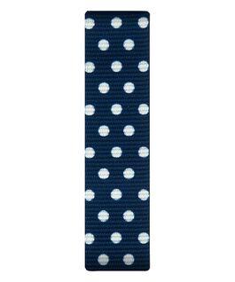 Azul/Correa deslizante de nylon con puntos blancos  large