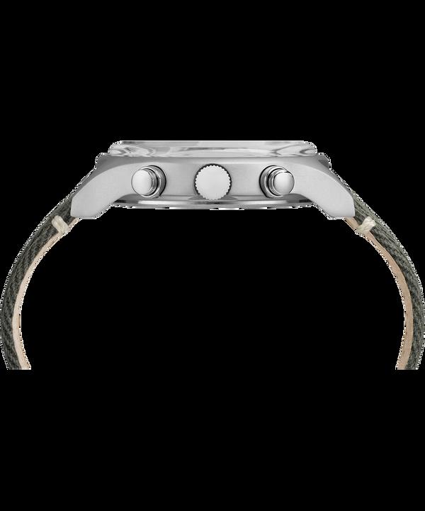 Reloj de cronógrafo de acero MK1 de 42mm con correa de tela Stainless-Steel/Green large