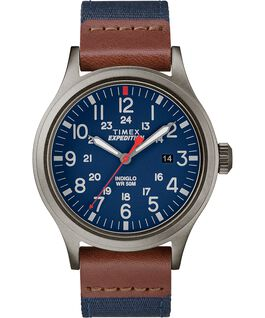 Reloj Scout de 40mm con correa de tela Gris/Azul large