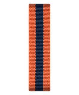 Correa de nylon deslizante color naranja/azul  large