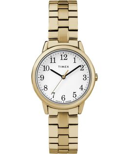 Easy Reader 30mm Stainless Steel Womens Watch Gold-Tone/White large
