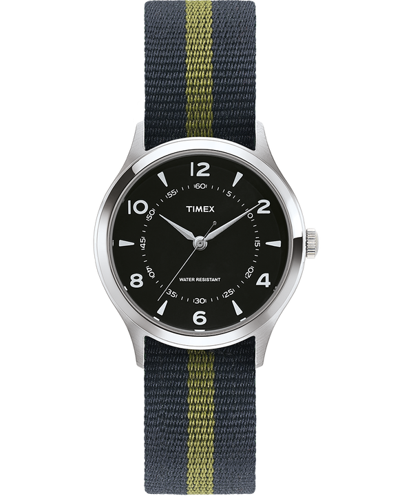 Reloj Whitney Village de 36mm con correa reversible de otomán Acero inoxidable/Negro large