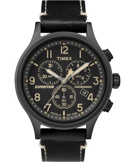 be7ce8a209ab Reloj cron oacute grafo Expedition Scout de 42 nbsp mm con correa de cuero  ...