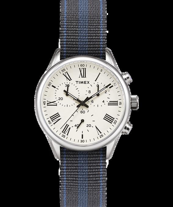 Reloj Weston Avenue de 38mm con correa de otomán reversible Acero inoxidable/Crema large
