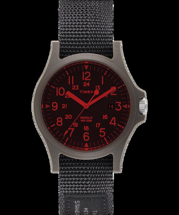 Reloj Acadia de 40 mm con correa de tela y cristal coloreado  large