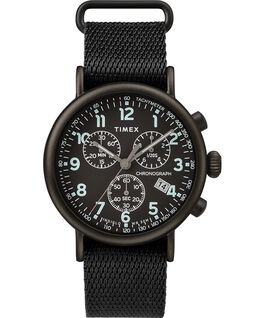 Standard Chronograph 41mm Fabric Strap Watch Negro large