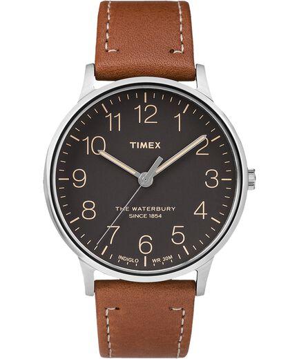 3231412fbf71 Reloj Classic Waterbury de 40 nbsp mm con correa de cuero  Stainless-Steel Tan