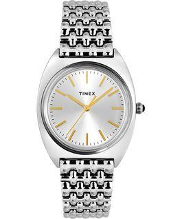 Reloj Milano de 33mm con correa de acero inoxidable Plateado large