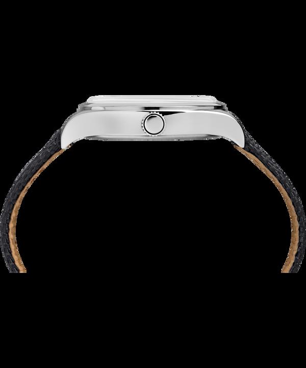 Reloj Waterbury Traditional de 38mm con correa de tela Stainless-Steel/Black large