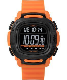 Reloj BST de 47mm con correa de silicona Naranja/Negro large