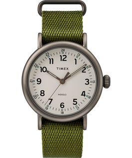 Reloj Standard de 40mm con correa de tela Negro/Verde/Natural large