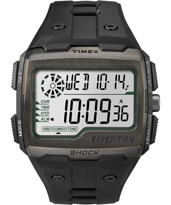 Reloj Expedition Grid Shock de 50 mm con correa de resina Black/Gray large