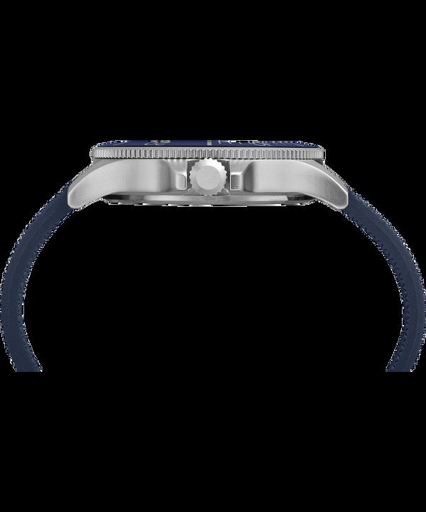 Reloj Allied Coastline de 43mm con correa de silicona Silver-Tone/Blue large