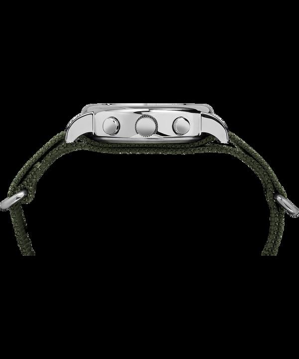 Reloj cronógrafo Weekender de 40mm con correa de nylon Silver-Tone/Green/Cream large