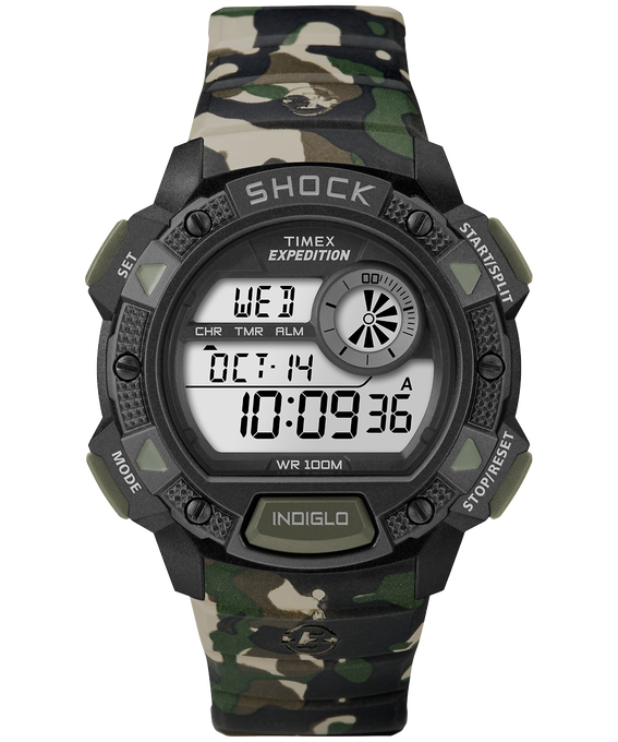 Expedition Base Shock 45mm Resin Strap Watch Camo large