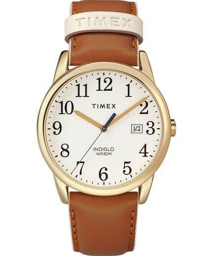 65103c14a629 Reloj Easy Reader Color Pop de 38 nbsp mm con correa de cuero Gold-Tone
