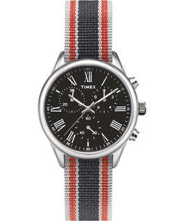 Reloj Weston Avenue de 38mm con correa de otomán Acero inoxidable/Negro large