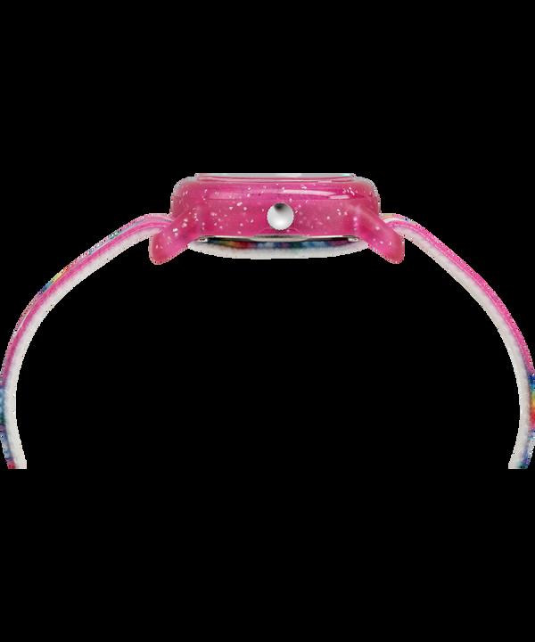 Reloj analógico para niños de 28mm con correa de tela elástica Pink/White large