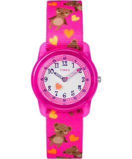 Kids Analog 32mm Nylon Strap Watch Pink/White large