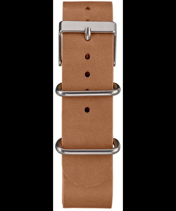 Reloj cronógrafo Weekender de 40mm con correa de cuero Silver-Tone/Tan/Blue large