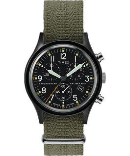 Reloj cronógrafo Archive MK1 de aluminio de 40 mm con correa de tela Negro/verde large