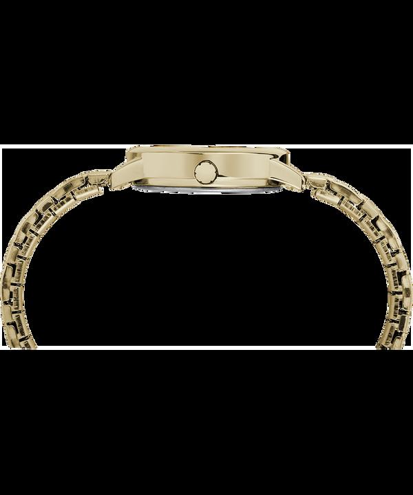 Reloj Easy Reader de 30mm con correa extensible Gold-Tone/White large