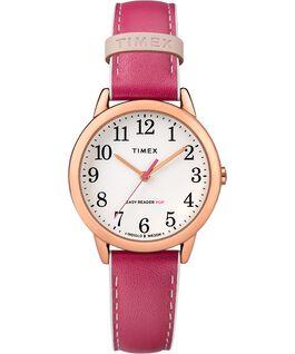 Reloj para mujer Easy-Reader Color Pop exclusivo de 30mm con correa de piel Tono oro rosa/Rosa/Blanco large