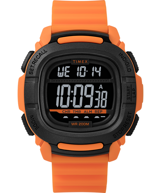 Boost 47mm Silicone Strap Watch Orange/Black large