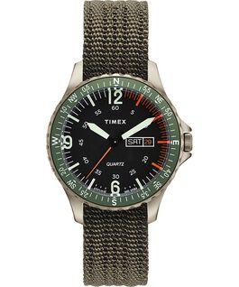 Reloj Navi Land de 38mm con correa de tela Green/Green large