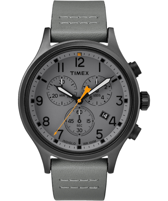 Allied Chronograph 42mm Leather Watch
