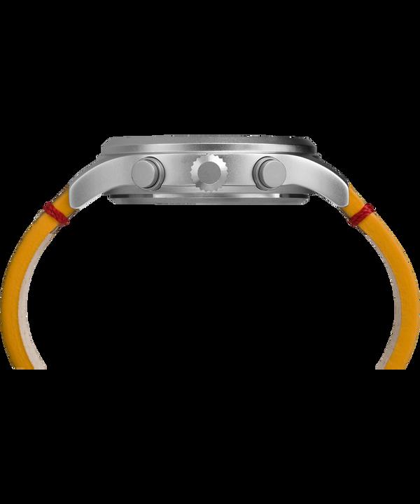 Reloj cronógrafo Expedition Scout de 42mm con correa de cuero Silver-Tone/Brown/Natural large