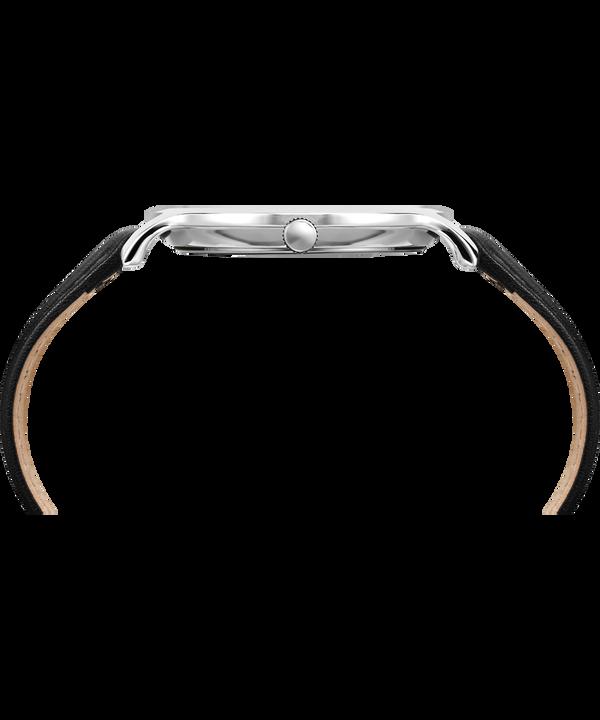 Reloj Metropolitan de 40mm con correa de cuero Silver-Tone/Black large